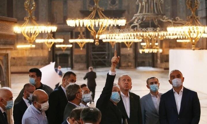 بازدید اردوغان از مسجد ایا صوفیه